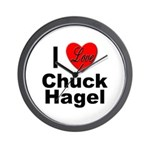 I Love Chuck Hagel Wall Clock