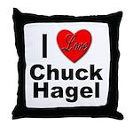 I Love Chuck Hagel Throw Pillow