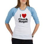 I Love Chuck Hagel (Front) Jr. Raglan