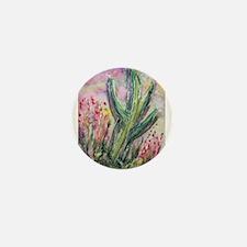 Saguaro cactus! Southwest art! Mini Button