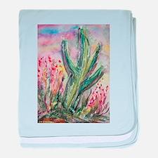 Saguaro cactus! Southwest art! baby blanket