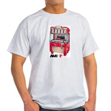 "AMI ""F"" Ash Grey T-Shirt"