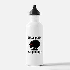 Transparent blaQk Sheep Logo Water Bottle
