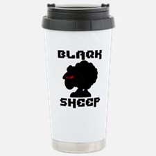 Transparent blaQk Sheep Logo Travel Mug