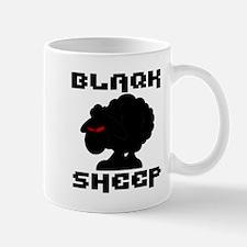 Transparent blaQk Sheep Logo Mug