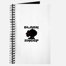 Transparent blaQk Sheep Logo Journal