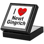 I Love Newt Gingrich Keepsake Box