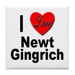I Love Newt Gingrich Tile Coaster