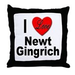 I Love Newt Gingrich Throw Pillow