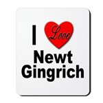 I Love Newt Gingrich Mousepad