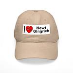 I Love Newt Gingrich Cap