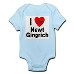 I Love Newt Gingrich Infant Creeper
