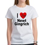 I Love Newt Gingrich (Front) Women's T-Shirt