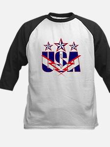 Stars and stripes Kids Baseball Jersey