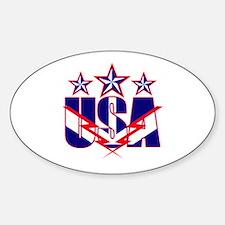 Stars and stripes Sticker (Oval)