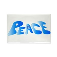 Groovy Peace Rectangle Magnet