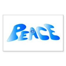 Groovy Peace Rectangle Decal