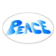 Groovy Peace Oval Decal