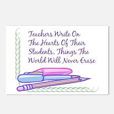 Teachers Write On The Hearts. Postcards (Package o