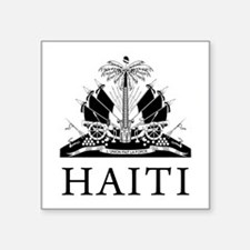 "Haiti Coat Of Arms Square Sticker 3"" x 3"""