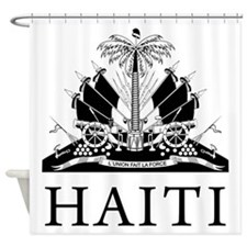 Haiti Coat Of Arms Shower Curtain