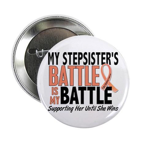 "My Battle Too Uterine Cancer 2.25"" Button (100 pac"