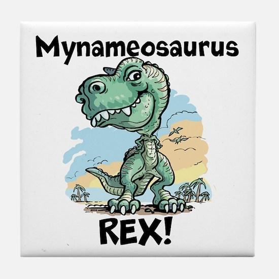 Personalizable Rex Tile Coaster