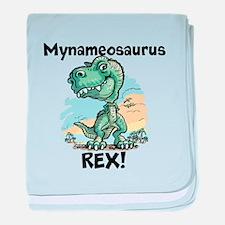 Personalizable Rex baby blanket