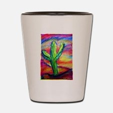 Saguaro Cactus, Southwest art! Shot Glass