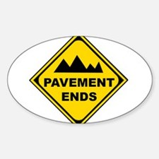 Pavement Ends Oval Decal