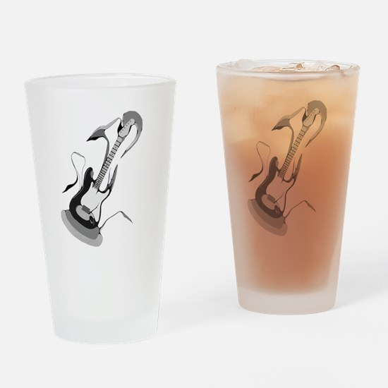Guitar Melody Drinking Glass