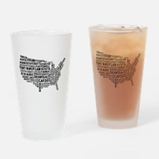 USA Map of Welsh Place Names Drinking Glass