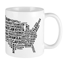 USA Map of Welsh Place Names Mug