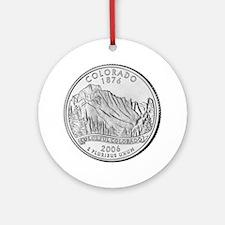 Colorado State Quarter Ornament (Round)