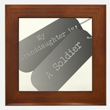 My granddaughter is a soldier Framed Tile
