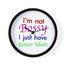 Not Bossy Wall Clock