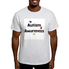 Autism Awareness (black) Ash Grey T-Shirt