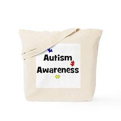 Autism Awareness (black) Tote Bag