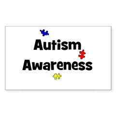 Autism Awareness (black) Rectangle Decal