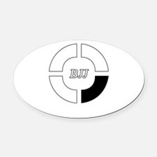 brazilian jiu jitsu Oval Car Magnet