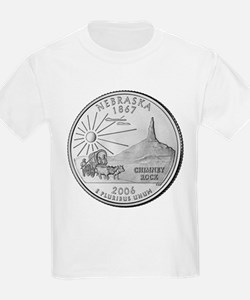Nebraska State Quarter Kids T-Shirt