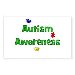 Autism Awareness (green) Rectangle Decal