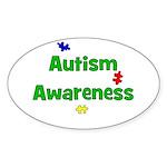 Autism Awareness (green) Oval Sticker