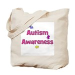 Autism Awareness (pink) Tote Bag