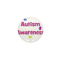 Autism Awareness (pink) Mini Button