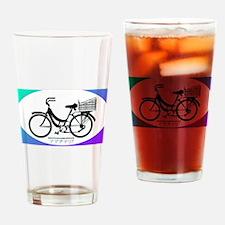 Mamachari Sticker Drinking Glass
