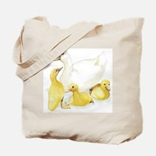 Duck and Ducklings Tote Bag