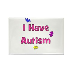 I Have Autism (pink) Rectangle Magnet