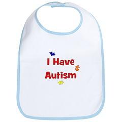 I Have Autism (red) Bib