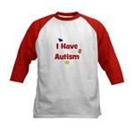 I Have Autism (red) Kids Baseball Jersey